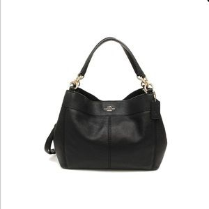 "NWT-COACH ""Lexy"" Handbag/black pebbled leather"